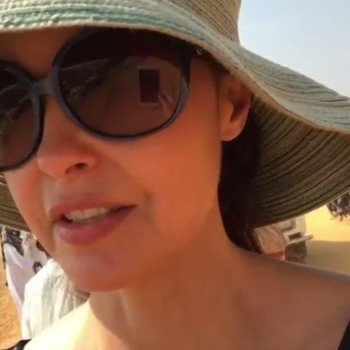 Ashley Judd, a still from her Facebook live video in Bangladesh