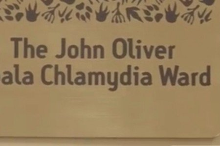 The new plaque at Australia' Zoo's Wildlife Hospital
