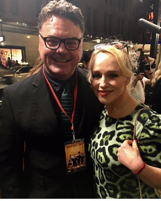 Shane A. Bassett on the red carpet with Ladies in Black actress Susie Porter