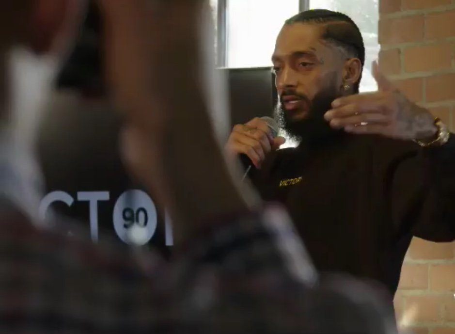 Nipsey Hussle at the opening of Vector 90 (Image: Instagram: @Vector.90)
