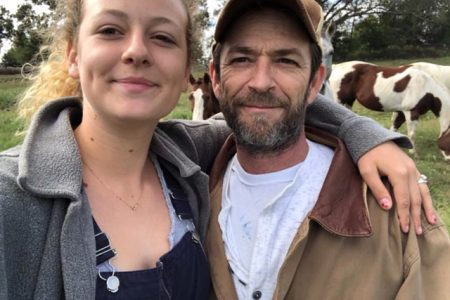 Sophie Perry with dad, Luke Perry (Pic: Instagram/@lemonperry)