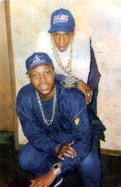 Jay-Z with a friend in Trenton, New Jersey circa 1988