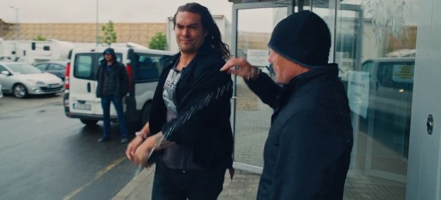 Jason Momoa taking part in the Plastic Service Announcement 2019