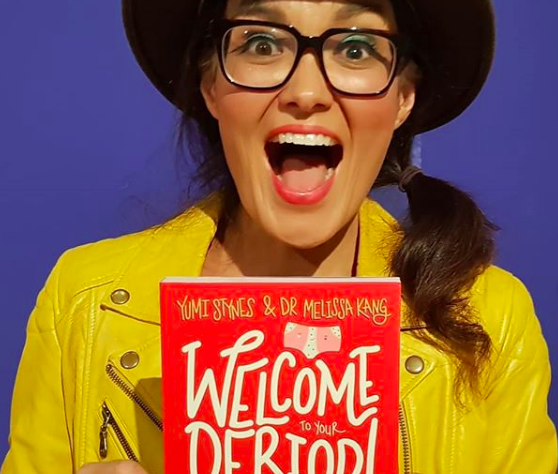 """Yumi Stynes, co-author of pre-teen period guide, """"Welcome to Your Period!"""" published by Hardie Grant. (Photo: @yumichild/Instagram)"""
