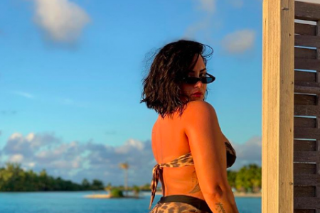 Demi Lovato shares an unedited bikini photo on social media (Photo: @ddlovato/Instagram)