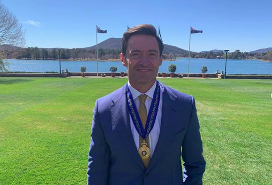 Hugh Jackman receives a medal as a Companion of the Order of Australia (Photo: @hughjackman/Instagram)
