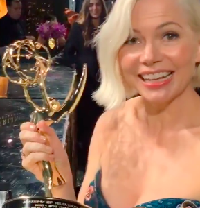 Michelle Williams speaks up about equal pay after winning 2019 Emmy for her role in Fosse/Verdon (Photo: @busyphilipps/Instagram)