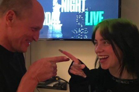New besties Woody Harrelson and Billie Eilish after working together on 'Saturday Night Live' (Photo: @woodyharrelson/Instagram)
