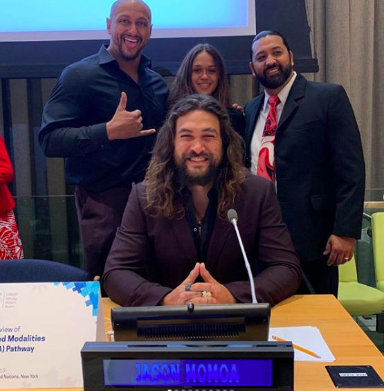 Jason Momoa makes a speech about climate crisis at the United Nations (Photo: @prideofgypsies/Instagram)