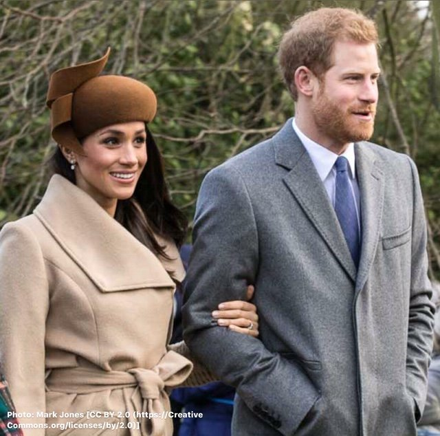 The Duke and Duchess of Sussex. Photo by Mark Jones [CC BY 2.0 (https://creativecommons.org/licenses/by/2.0)]
