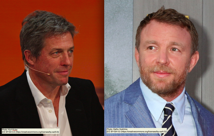 Hugh Grant and Guy Ritchie recreate photo to honour their veteran fathers