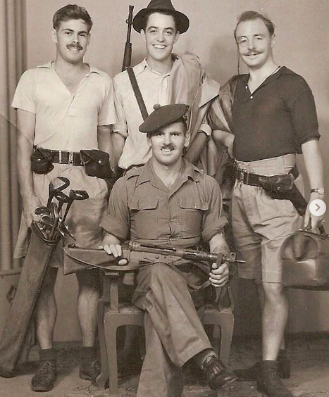 Captain James Grant (back row, middle) and Captain John Ritchie (back row, right) who served in the military together. (Photo: @guyritchie/Instagram)