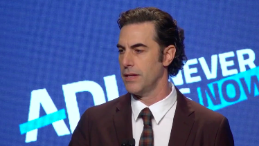 Sacha Baron Cohen delivers a powerful speech at ADL summit on anti-semitism and hate (Photo:@adl_national/Instagram)