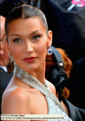 Bella Hadid, Photo by Georges Biard [CC BY-SA 4.0 (https://creativecommons.org/licenses/by-sa/4.0)]