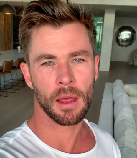 Chris Hemsworth announces one million dollar donation to bushfire relief (Photo:@chrishemsworth/Instagram)