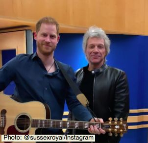 Prince Harry and Jon bon Jovi jam at Abbey Road for Invictus Games charity single (Photo:@sussexroyal/Instagram)