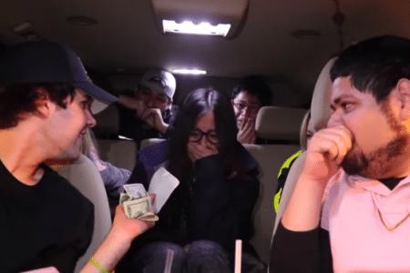 David Dobrik surprises struggling fan with $25k check (Photo via YouTube)