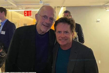 Christopher Lloyd and Michael J. Fox reunite for Parkinson's Disease fundraiser (Photo: @realmikejfox/Instagram)