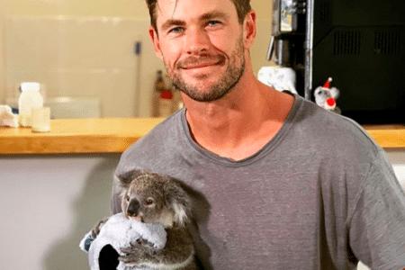 Chris Hemsworth visits koala rescue group (Photo: @chrishemsworth/Instagram)