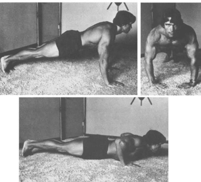 Arnold Schwarzenegger shares old home workout (Photos via @schwarzenegger/Facebook)