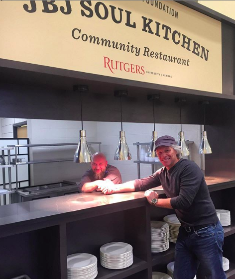 Jon Bon Jovi at one of his Soul Kitchen's in New Jersey (Photo: @jbjskrun/Instagram)