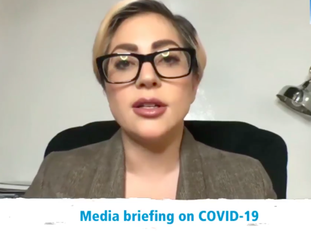 Lady Gaga announces virtual concert special to benefit WHO's Covid-19 Solidarity Response Fund. (Photo: @YouTube)