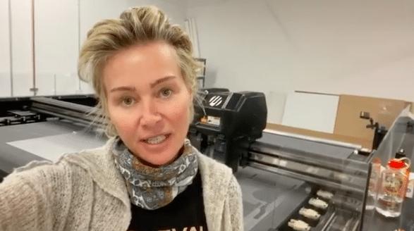 Portia De Rossi shares a video of her art factory on social media. (Photo: @generalpublic.art/Instagram)