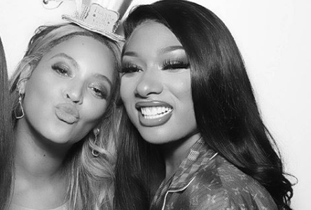 """Beyoncé and Megan Thee Stallion donate procides of """"Savage"""" remix to COVID-19 relief in Houston, Texas. Photo: @theestallion/Instagram"""