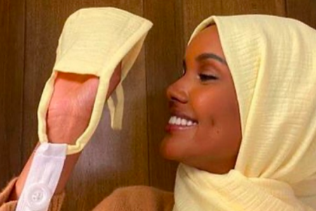 Halima Aden designs face masks for hijab-wearing hospital staff. (Photo: @halima/Instagram)