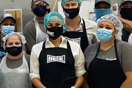 Harry and Meghan volunteer with Homeboy Industries (Photo: @HomeboyIndustries/Instagram)