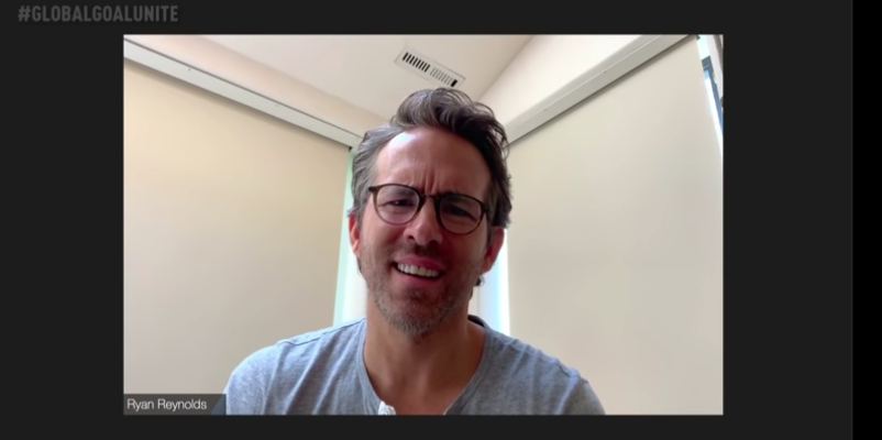 "Ryan Reynolds joins X-Men Zoom chat at Global Citizen's ""Unite for Our Future"" concert. (Photo: @GlobalCitizen/YouTube)"