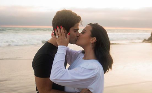 Demi Lovato and Max Ehrich (Photo by Angelo Kritikos)