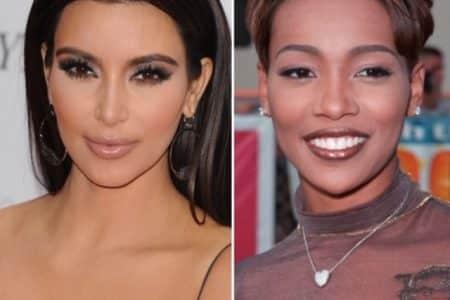 Kim Kardashian and Monica (Photos: Featureflash Photo Agency/Shutterstock.com)