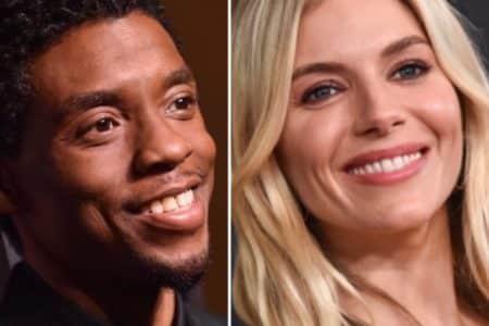 Chadwick Boseman and Sienna Miller (Photos: DFree/Shutterstock.com)
