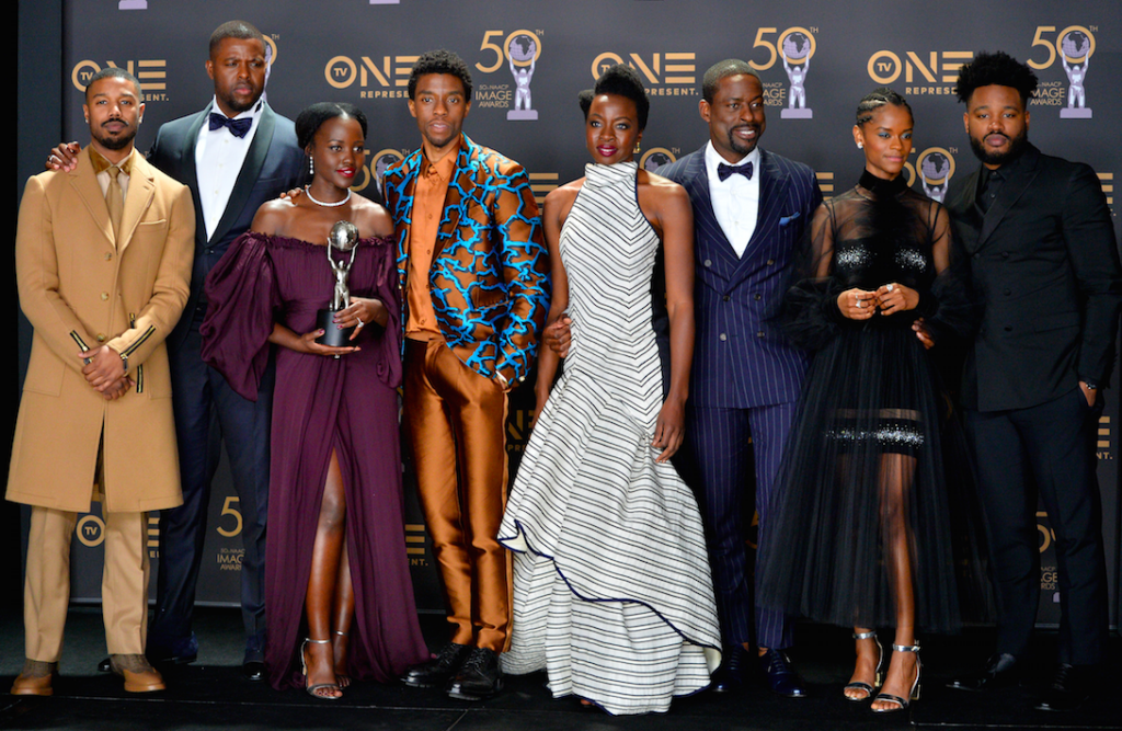 The cast of Marvel's Black Panther, 2019 (Photo: Featureflash Photo Agency/Shutterstock.com)