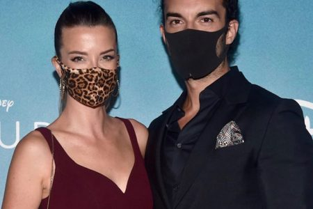 """Emily and Justin Baldoni at the premiere of """"Clouds"""" 2020 (Photo: courtesy DisneyPlus/Instagram)"""
