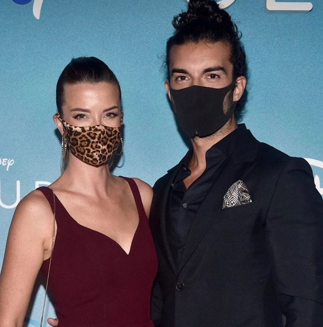 "Emily and Justin Baldoni at the premiere of ""Clouds"" 2020 (Photo: courtesy DisneyPlus/Instagram)"
