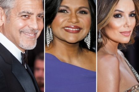 George Clooney, Mindy Kaling and Eva Longoria smile at red carpet events.