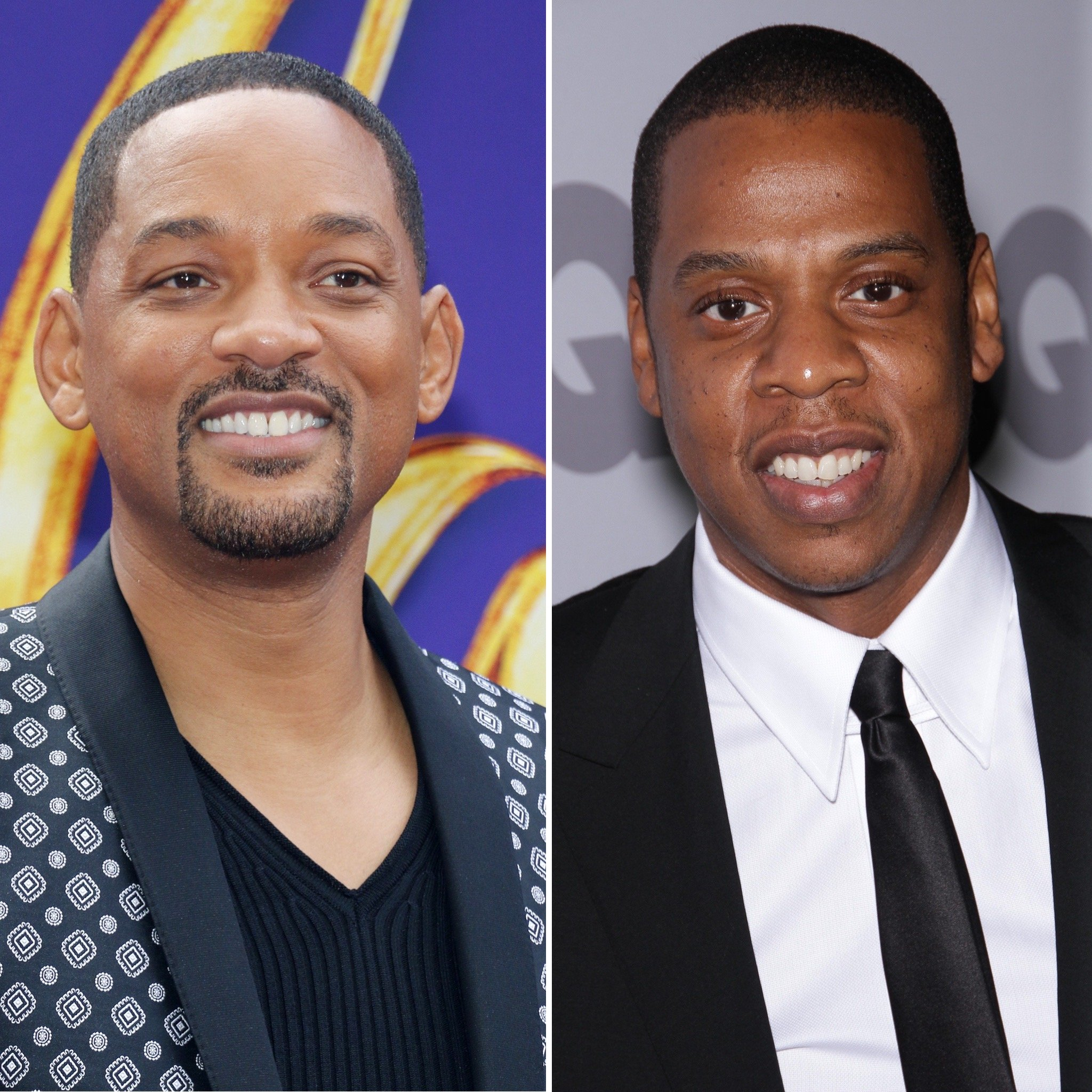 Will Smith and JAY-Z smile at red carpet events.