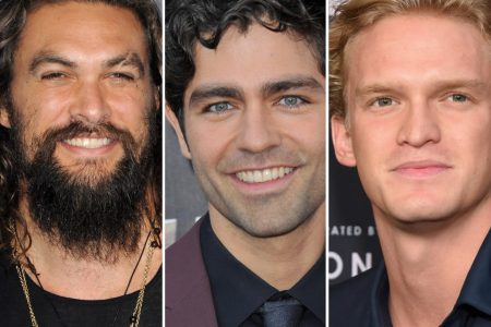 Jason Momoa, Adrian Grenier and Cody Simpson smile at red carpet events