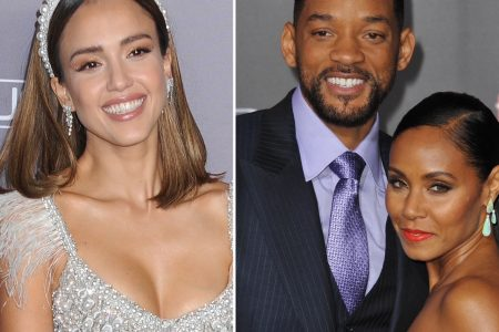 Jessica Alba, Will and Jada Pinkett Smith smile at red carpet events.