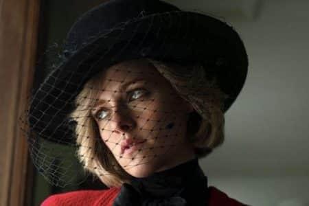 """A still from """"Spencer"""" starring Kristen Stewart as Princess Diana"""