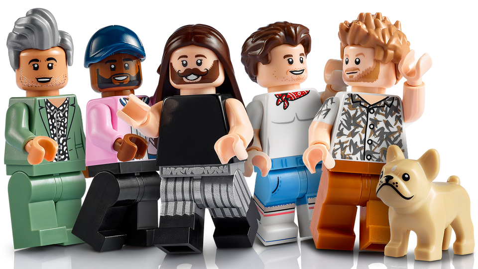 Queer Eye Lego Set minifigures of the Fab 5.
