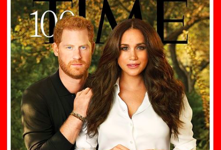 Harry and Meghan on the cover of TIME's 100 Most Influential People Issue 2021.